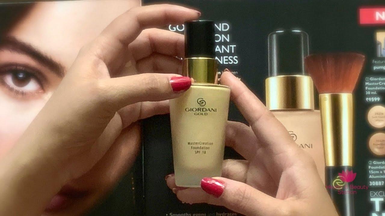 Download Oriflame Giordani Gold MasterCreation Foundation SPF 18 Review - By HealthAndBeautyStation