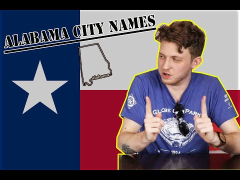 Texans Try ALABAMA CITY NAMES | WEIRD CITY NAMES