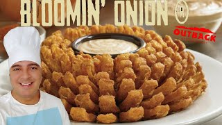 A FAMOSA CEBOLA DO OUTBACK + MOLHO (BLOOMING ONION | BIG ONION)