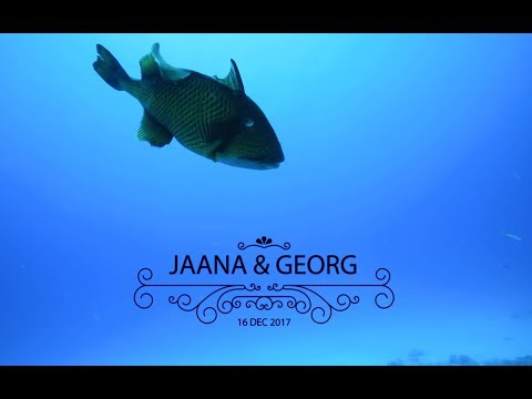 Underwater wedding in Mauritius - Ido Productions