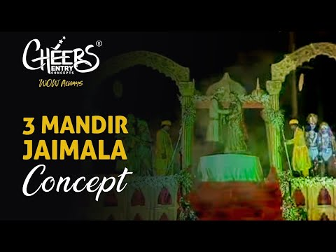Royal Jaimala Concept Mandir Theme Indian Hindu Wedding