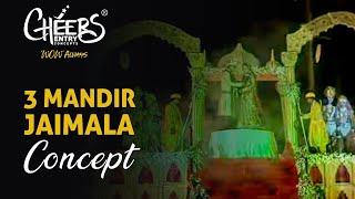 Royal Jaimala Concept Mandir Theme Indian Hindu Wedding