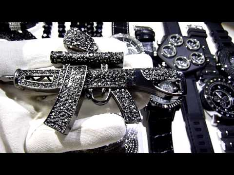 (SOLD)$325 16 piece WHOLESALE DEAL! Hip-Hop/Cross/Chain/Watch/Bracelet combo! LAB MADE JEWELRY