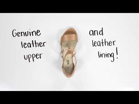 Video for Sandra T-Strap Wedge Sandal this will open in a new window