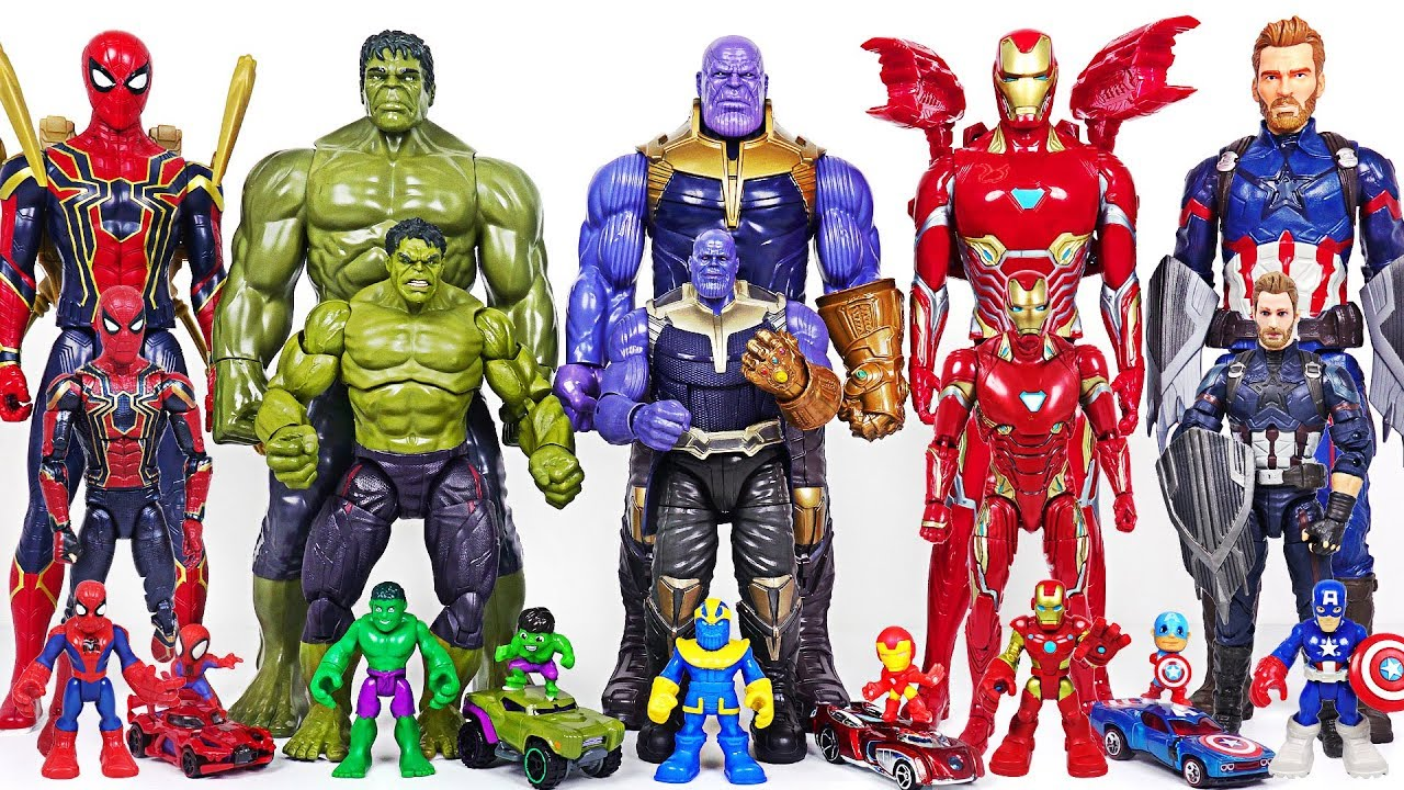 Marvel Infinity War Avengers bigger and smaller transform! Hulk, Thanos, Spider Man! - DuDuPopTOY