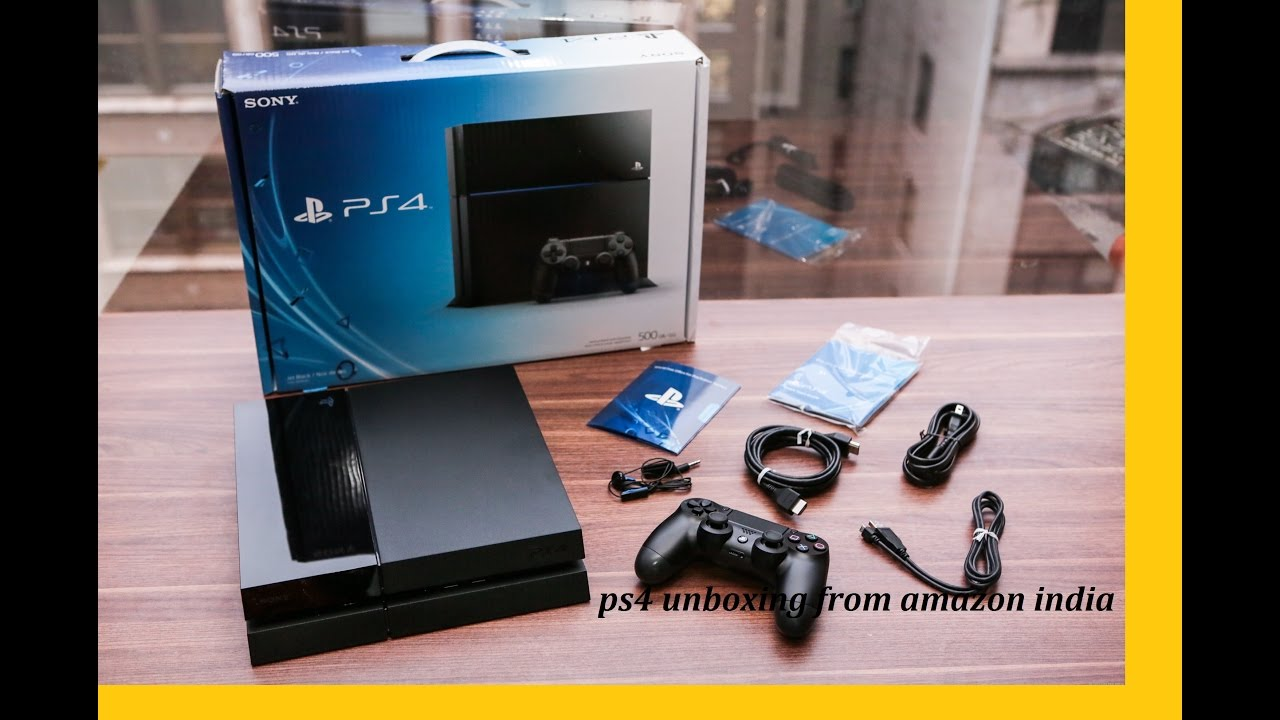 PS4 unboxing from Amazon India - YouTube