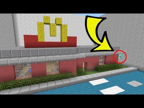 Minecraft: MCDONALD'S SECRET!!! - Crazy Hidden Buttons - Custom Map