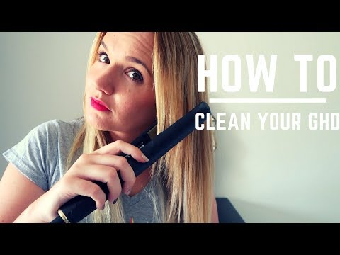 How to clean your hair straightener
