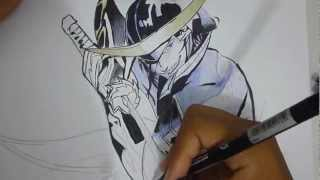 Speed Drawing Masamune Date (TEST PINCEL)