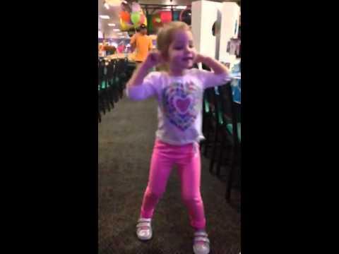 Quinn dancing at Chuckee Cheese