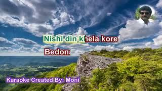 Ki Ashay Bandhi Khelaghar Karaoke with Lyrics