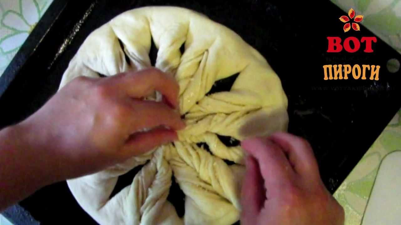 Как сделать красивый пирог из дрожжевого теста фото 994