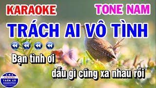 Karaoke Trách Ai Vô Tình   Nhạc Sống Tone Nam   Lý Mỹ Hưng Karaoke Tuấn Cò