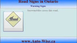 Ontario Driving Test G1 - Road Signs  - 2 (Warning Sign )