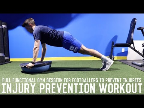 Injury Prevention Training For Footballers | Full Gym Workout Session