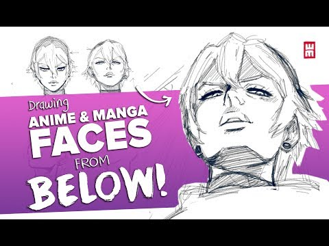 drawing-anime-&-manga-faces-viewed-from-below!-hard-angles!