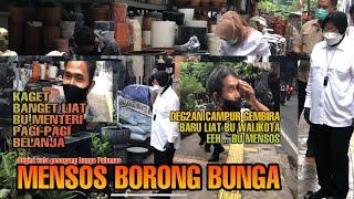 Bu Mensos Blusukan di Jalan Pulomas, Ternyata Borong Bunga