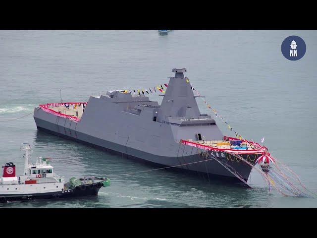 Japan's Mitsui E&S Launches 'Kumano' 「くまの」 New 30FFM Frigate For JMSDF