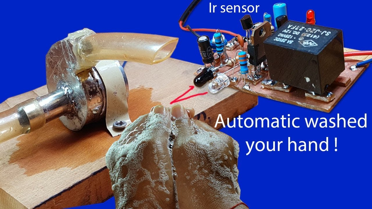 How To Make Automatic Washed Your Hand Circuit By Using Ir Sensor Infrared Wiring Diagram With Relay 12v