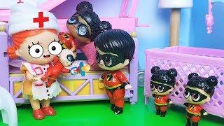 НОВЫЙ МАЛЫШ У СУПЕРСЕМЕЙКИ ЛОЛ сюрприз куклы мультики видео с игрушками.