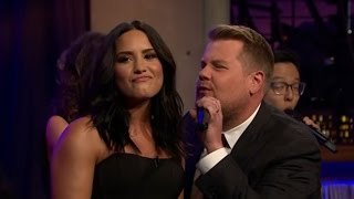 Watch Demi Lovato and James Corden Battle in a Diva-Inspired Riff-Off!