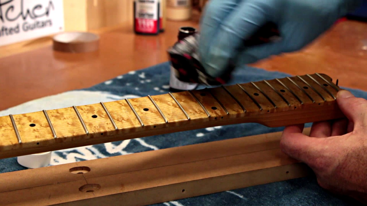 Hand Finishing a Guitar