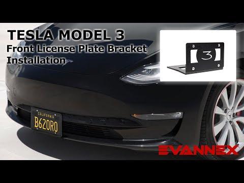 Front License Plate Bracket for Tesla Model 3 - Installation Instructions