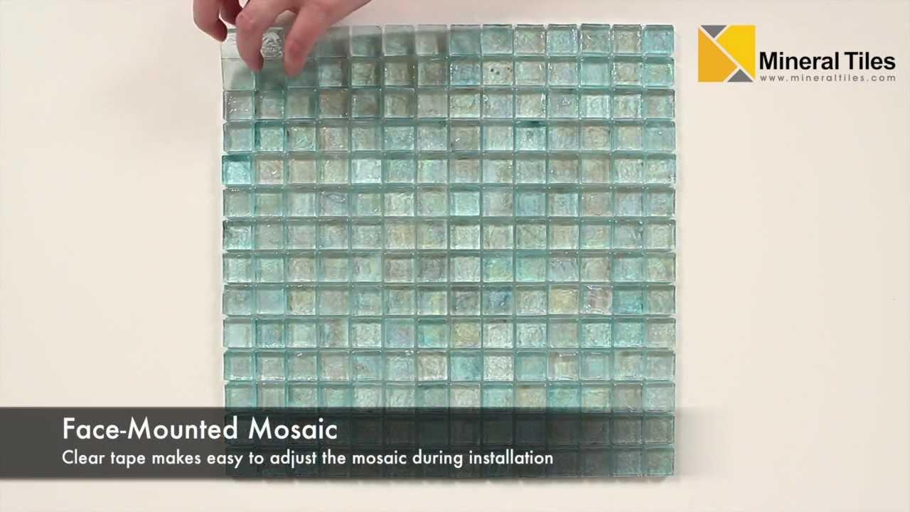 Iridescent Pool Glass Tile Aqua 1x1 - 120KELUTO21121 - YouTube