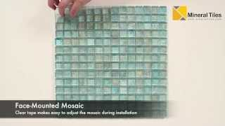 Iridescent Pool Glass Tile Aqua 1x1 - 120KELUTO21121