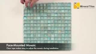 Iridescent Pool Glass Tile Aqua 1x1 - 120KELUTO21121