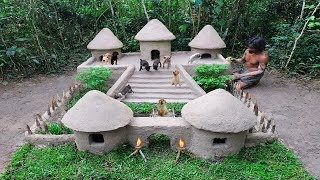 rescue-abandoned-puppies-building-mud-dogs-house-with-swimming-pool