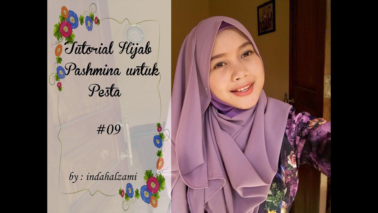 Tutorial Hijab Pasmina Untuk Pesta Pashmina Diamond Italiano 9