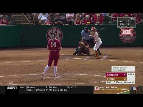 Texas vs. Alabama Softball Highlights - Game 2