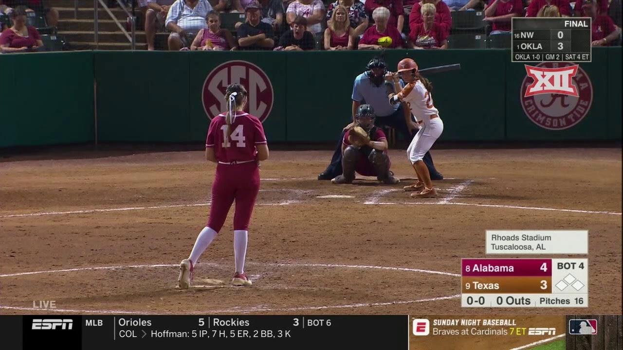 NCAA WCWS 2019: Sunday's Alabama vs. Oklahoma softball Game 2 video highlights, score