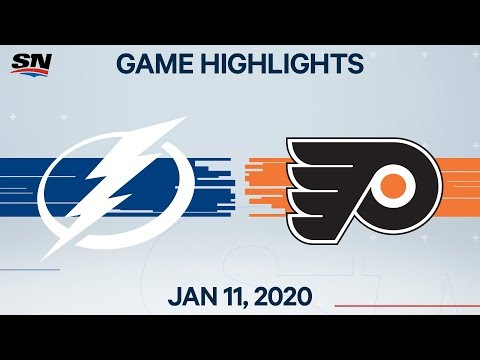 NHL Highlights | Lightning vs Flyers - Jan. 11, 2020