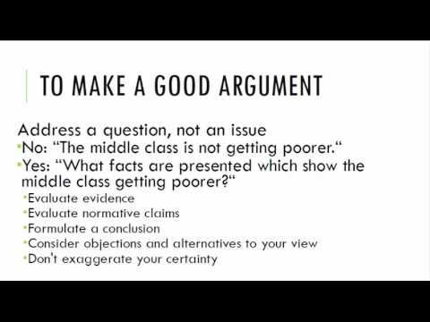 what is a good argument