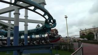 Granpus Jet Roller Coaster POV Vekoma Suspended Mitsui Greenland Japan HD 1080