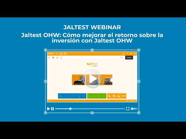 JALTEST WEBINAR    Jaltest OHW. Cómo mejorar el retorno sobre la inversión