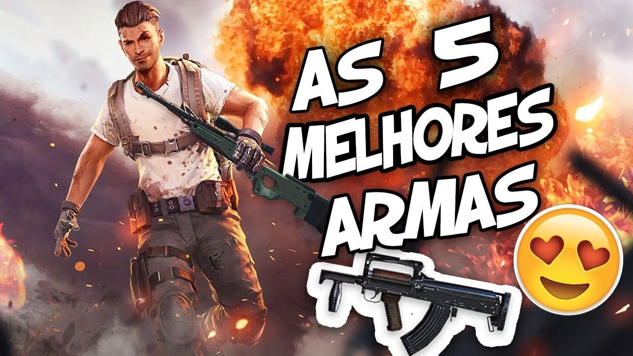 As 5 Melhores Armas Do Free Fire Battlegrounds Youtube