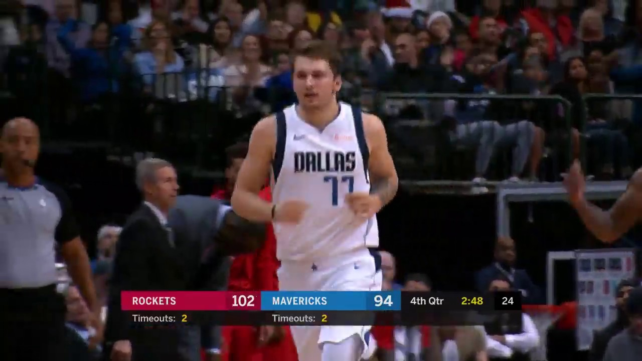 afed4ce99 Luka Doncic Takes Over In 4Q And Hits Clutch Step-back Against Houston  Rockets. Bleacher Report