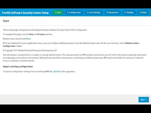 Introducing the Fortify Software Security Center Setup Wizard