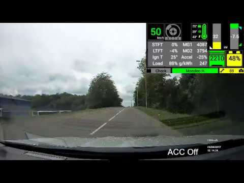 Ford Mondeo Hybrid + Dashcam + Hybrid Assistant First Test