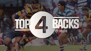 Top 4 Backs - Schools Rugby 2018 1st Round