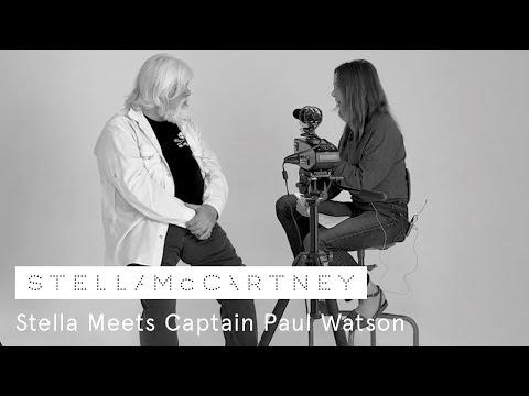Stella McCartney meets Captain Paul Watson, founder of Sea Shepherd