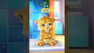 Моя Говорящая Анжела и Говорящий кот Том.Видео игра для детей.
