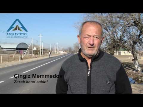 """Zazalı-""""İmamzadə"""" kompleksi-Gəncə avtomobil yolunun tikintisi yekunlaşıb"""