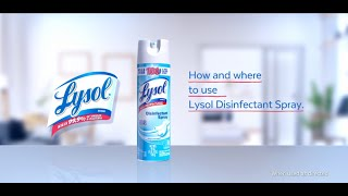 How and where to use Lysol Disinfectant Spray