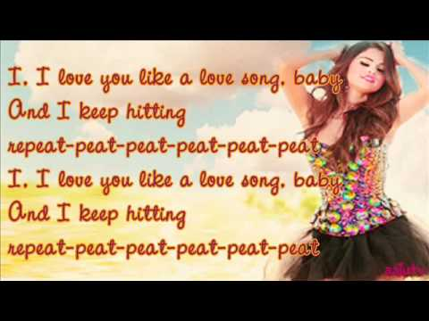 I love you love song baby lyrics