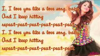 Selena Gomez   Love You Like a Love Song (lyrics video).wmv
