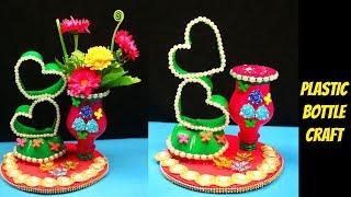 DIY - How to Plastic sprite bottle is turned into showpiece - Make flower vase from plastic bottle